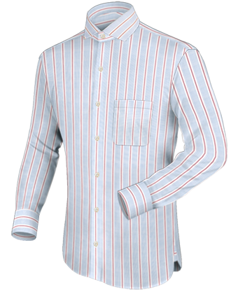 Italiaans Overhemd Hoge Boord with Italian Collar 1 Button