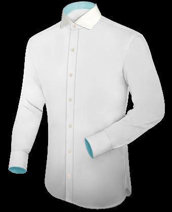 Aparte Overhemden with Italian Collar 1 Button