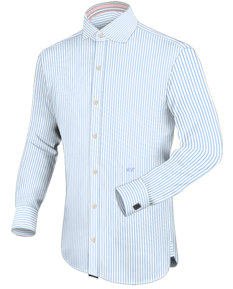 Design Overhemd Korte Mouw with French Collar 1 Button