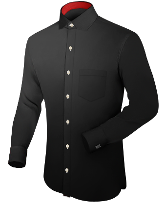 Dessin Overhemden with French Collar 1 Button