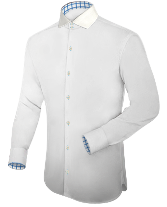 Dress Shirt Wit with Italian Collar 2 Button