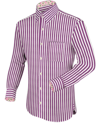 Dubbele Boord Overhemden with French Collar 2 Button