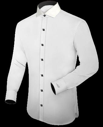 Effen Overhemden with Hidden Button