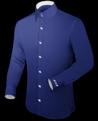 Eigen Ontwerp Overhemd with French Collar 2 Button