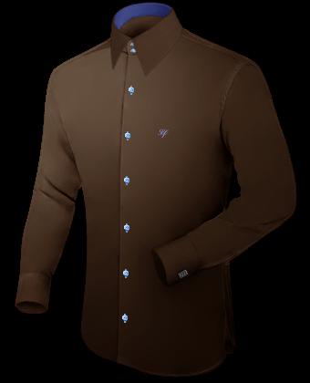 Eigen Overhemd Ontwerpen Groen with Hidden Button