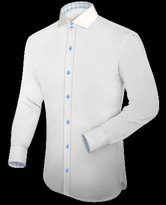 Eigen Overhemd Ontwerpen with Italian Collar 2 Button