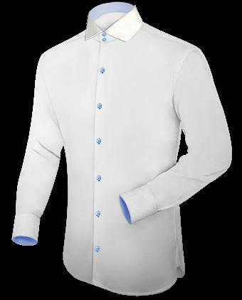 Epaulette Overhemden with Italian Collar 1 Button