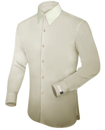 Extra Lange Mouwen Overhemden with French Collar 1 Button
