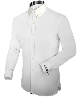 Extra Slim Fit Overhemd with Hidden Button