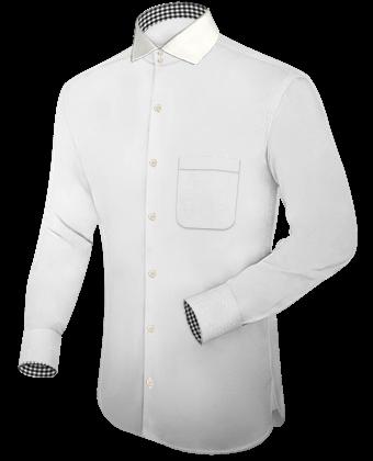 Felgekleurde Overhemden with Button Down