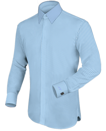 Formele Overhemden with French Collar 1 Button
