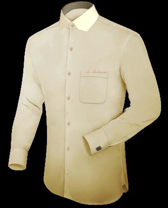 Gebloemd Heren Overhemd with Italian Collar 2 Button