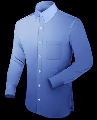 Gebloemde Heren Hemden with French Collar 1 Button