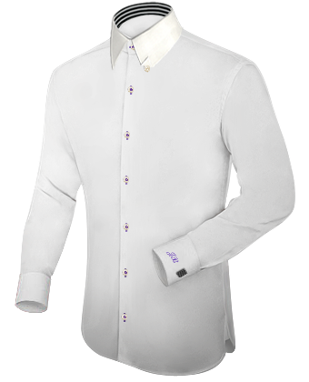 Geel Overhemd with Hidden Button