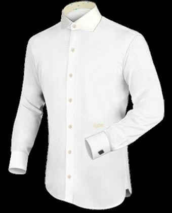Gekleurde Overhemden with Cut Away 1 Button