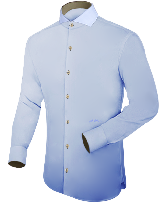 Gestreept Overhemd with French Collar 1 Button