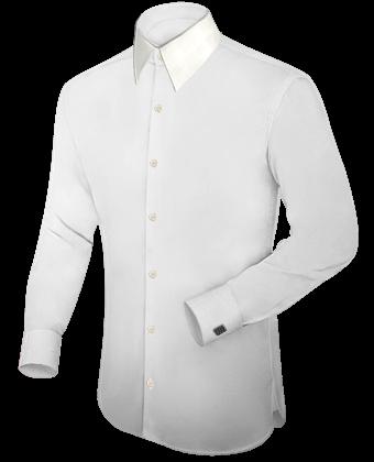 Gepersonaliseerde Overhemden with French Collar 1 Button