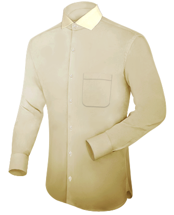 Goedkoope Heren Overhemden with Italian Collar 1 Button