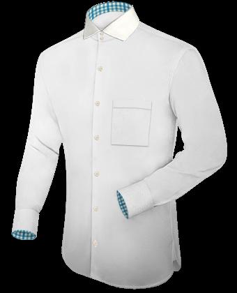 Goedkope Design Overhemden with Italian Collar 2 Button