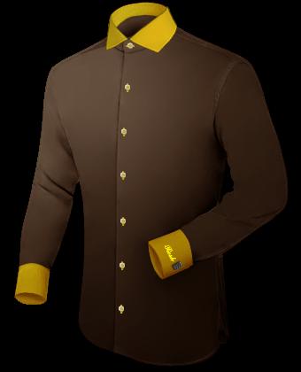 Goedkope Hemden with Italian Collar 1 Button