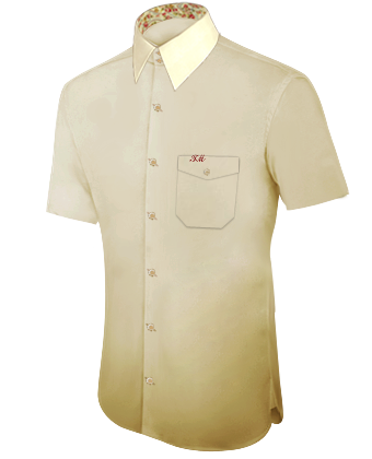 Goedkope Maatshirts with French Collar 2 Button