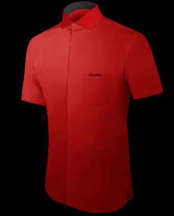 Grote Maat Hemden with Italian Collar 1 Button