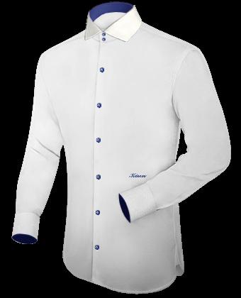 Grote Maten Hemd with Italian Collar 2 Button