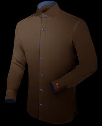 Handmade Kleding Overhemden with Italian Collar 2 Button