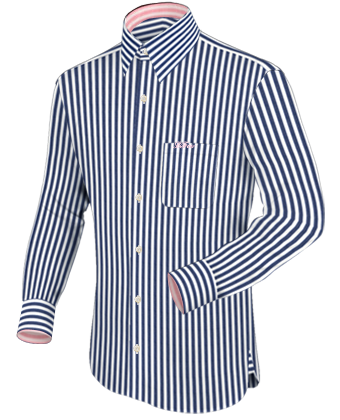 Grote Maten Mode with French Collar 1 Button