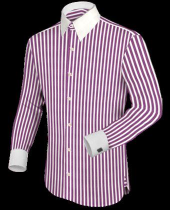 Kledingmerken Heren with French Collar 1 Button