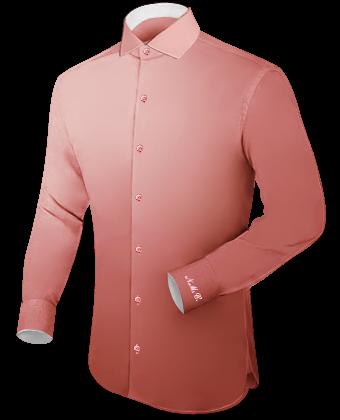 Kreukvrije Overhemden with Italian Collar 1 Button