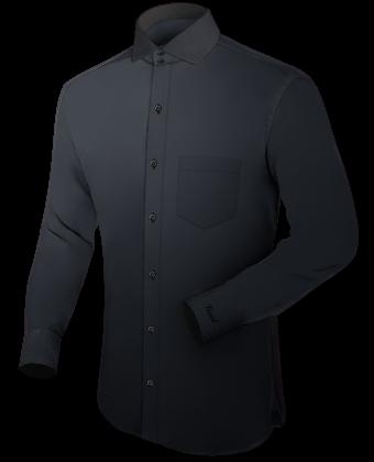 Kraagloos overhemd