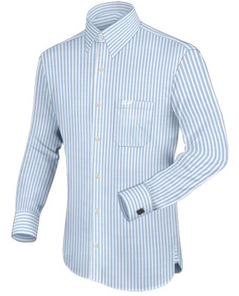 Geruit Overhemd with French Collar 1 Button