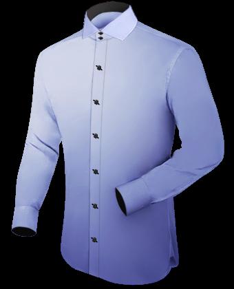 Mannen Blouse Of Overhemd.Paars Mannen Overhemd