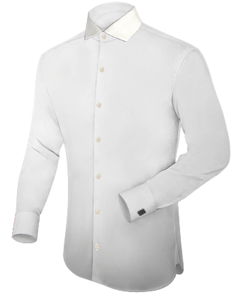 Heren Hemd with Italian Collar 1 Button
