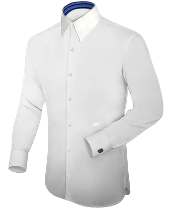 Hoge Boord Overhemd with French Collar 1 Button