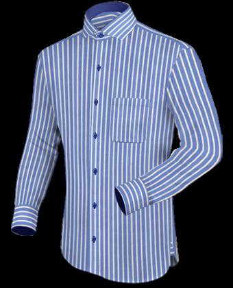 Business Overhemden with Italian Collar 1 Button