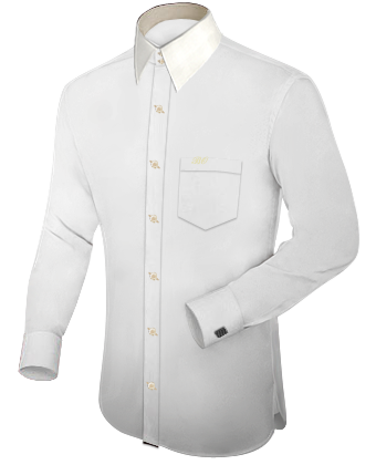 Dameskleding Grote Maten with French Collar 2 Button