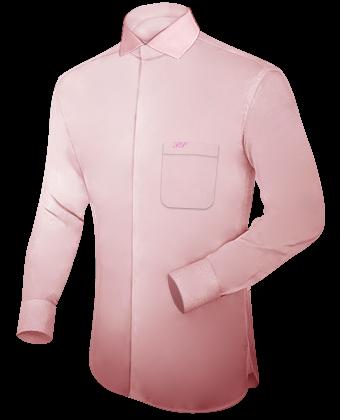 Mannen Hemden with Italian Collar 1 Button