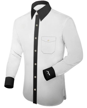 Mass Hemd with French Collar 2 Button