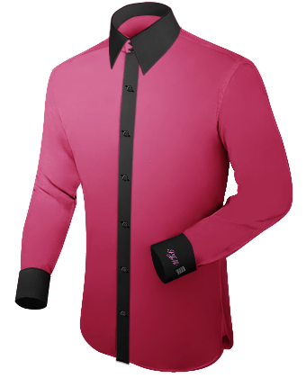 Mens Shirts with French Collar 2 Button