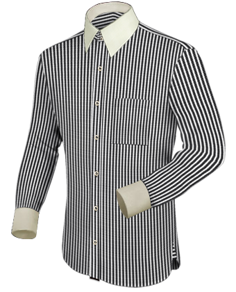 Merk Overhemd with French Collar 2 Button