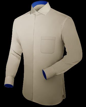 Custom Made Shirt with Italian Collar 2 Button