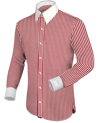 For Men Hemden with French Collar 2 Button