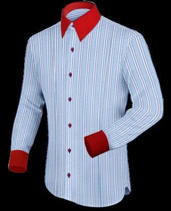 Italiaanse Overhemden Hoge Boord with Button Down