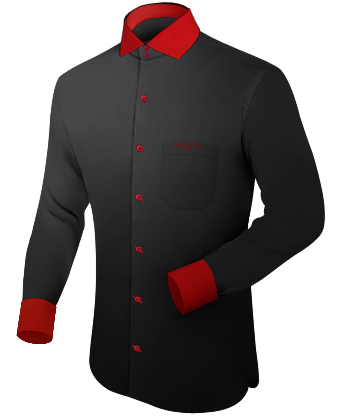 Maatshirt with Italian Collar 2 Button