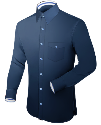 Mannen Blouse with French Collar 2 Button