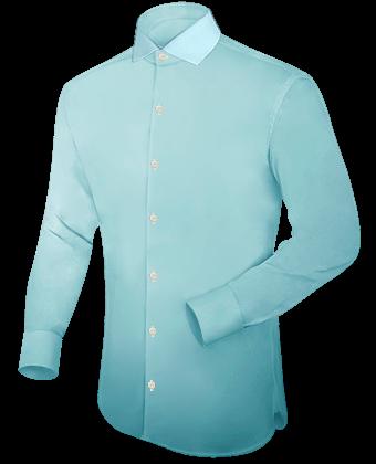 Mannen Hemd with Italian Collar 1 Button