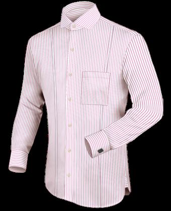 Goedkope Overhemden with Italian Collar 1 Button
