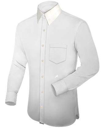 Overhemd Grote Maten with French Collar 1 Button